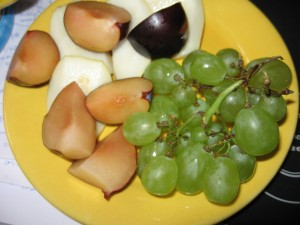 Frühstück mit Obst